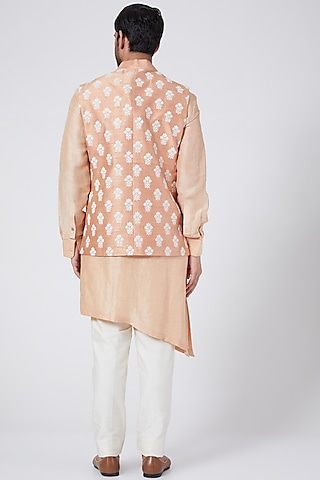 Oyster Bundi Jacket Set With Buttis by Aqube by Amber Men