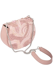 Pink Embellished Clutch by Studio Accessories