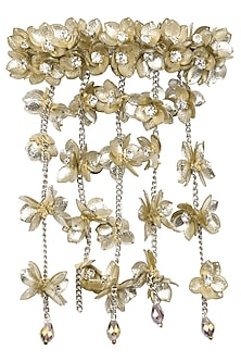 Gold and Silver Waterfall Sequins and Crystal Embellished Hairclip by Studio Accessories