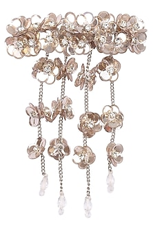 Rose Gold Waterfall Sequins and Crystal Embellished Hairclip by Studio Accessories