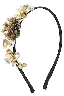 Gold and Silver Sequins and Crystal Embellished Hairband by Studio Accessories