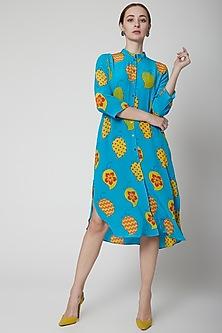 Turquoise Sanya Tunic by Anupamaa Dayal