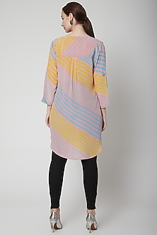 Pink Tunic With Stripes by Anupamaa Dayal