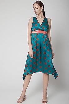 Green Suzoko Satin Silk Dress by Anupamaa Dayal