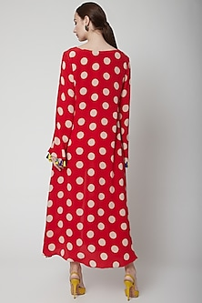 Red Dress With Polka Dots by Anupamaa Dayal