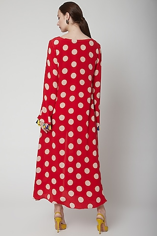 Red Dress With Polka Dots by Anupamaa Dayal