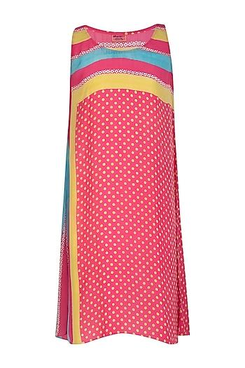 Pink Printed Shift Dress by Anupamaa Dayal
