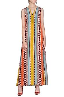 Multi Colored Printed Maxi Dress by Anupamaa Dayal