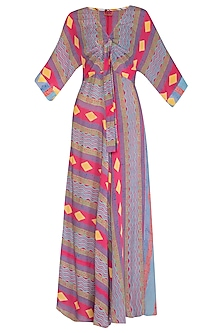 Mauve Printed Maxi Dress by Anupamaa Dayal