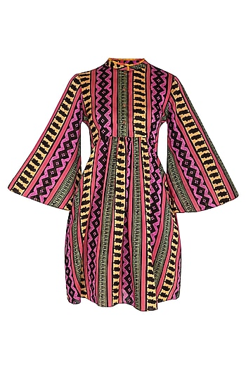 Multi Colored Printed Mini Dress by Anupamaa Dayal