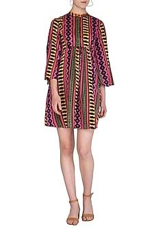 Multi Colored Printed Mini Dress by Anupamaa Dayal
