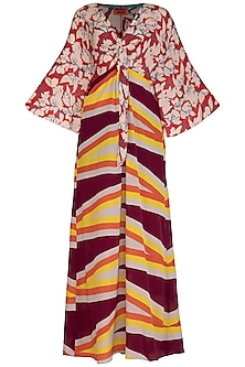 Red & Wine Printed Dress by Anupamaa Dayal