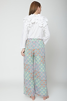 Multi Colored Printed Palazzo Pants by Anupamaa Dayal