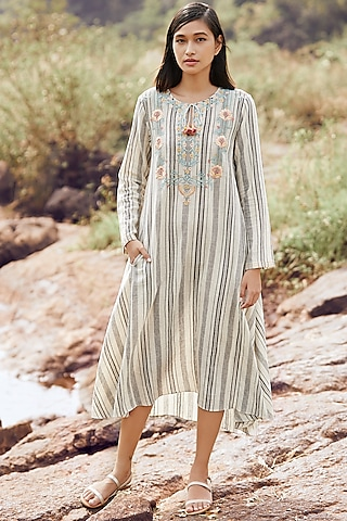 Ivory Striped Dress  by Anita Dongre Grassroot