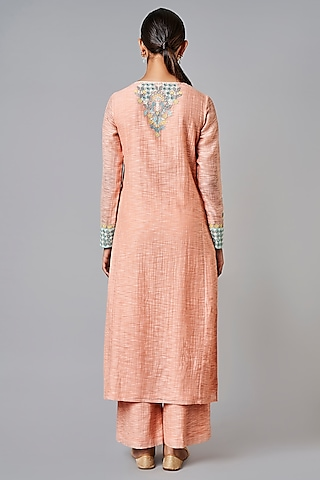 Beige Embroidered Kurta Set by Anita Dongre Grassroot