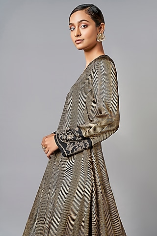 Black Embellished Kurta Set by Anita Dongre Grassroot