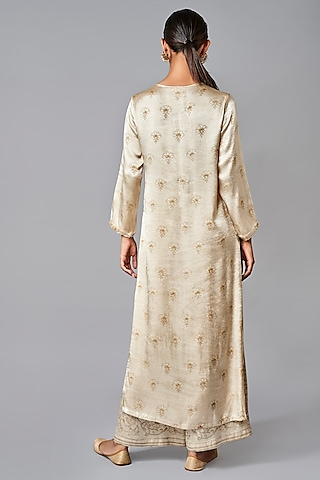 Cream & Gold Kurta Set by Anita Dongre Grassroot