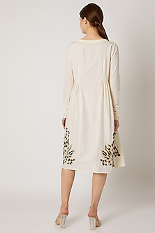 White Zari Embroidered Tunic by Adah