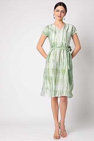 Mint Green Tie & Dye Tunic by Adah