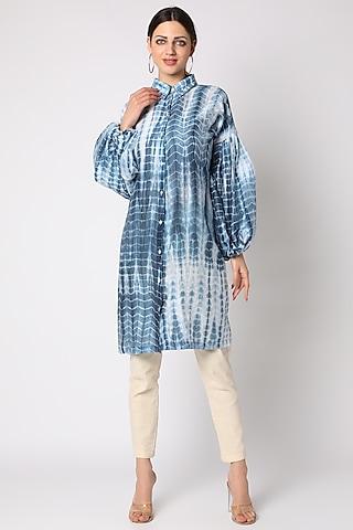 Sky Blue Tie & Dye Tunic by Adah