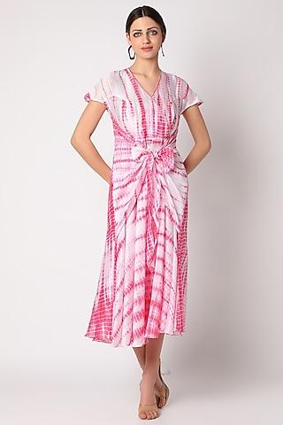 Blush Pink Tie & Dye Tunic by Adah