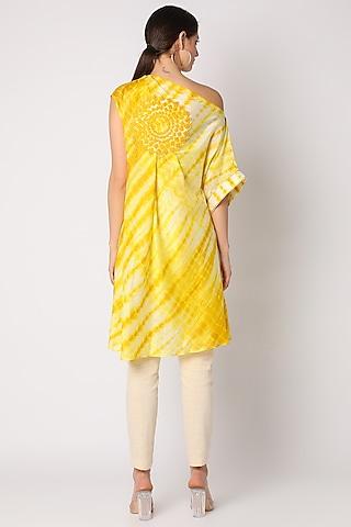Yellow Tie & Dye Tunic by Adah
