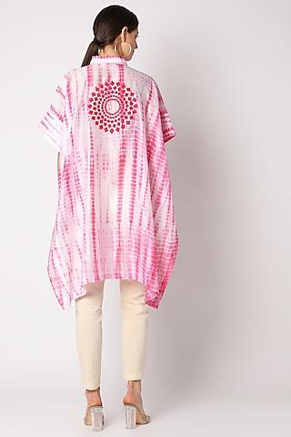 Blush Pink Tie & Dye Chanderi Tunic by Adah