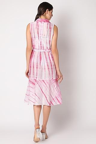 Blush Pink Tie & Dye Dress by Adah