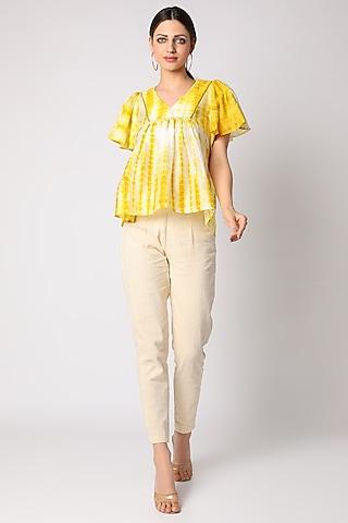 Yellow Tie & Dye Top by Adah
