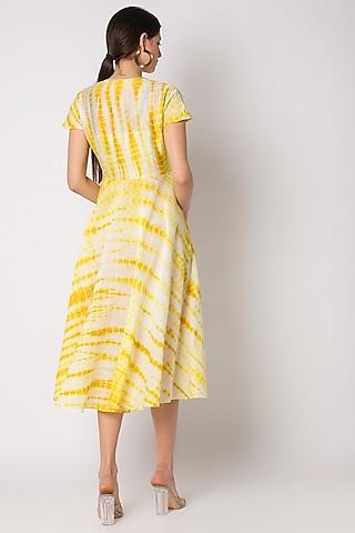 Yellow Tie & Dye Dress by Adah