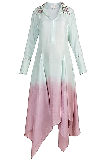 Light Blue Embroidered Tunic by Adah