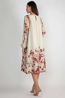 Mint Green Floral Printed Tunic by Adah