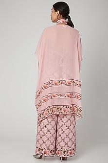 Blush Pink Printed Cape Set by Adah