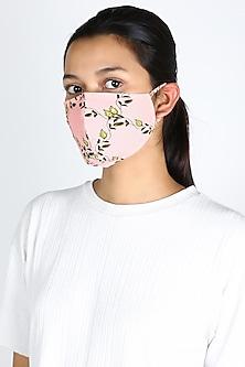 Blush Pink Printed Mask by Adah