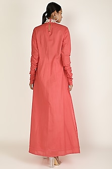 Red Embroidered Anarkali Set by Adah