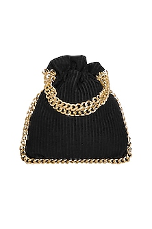 Black Chain Potli Bag by Adora by Ankita