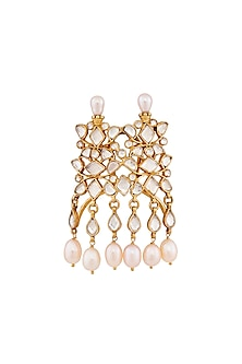 Gold Plated Handcrafted Hair Broach by Anita Dongre Silver Jewellery