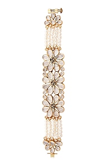 Gold Plated Floral Sharin Bracelet by Anita Dongre Silver Jewellery