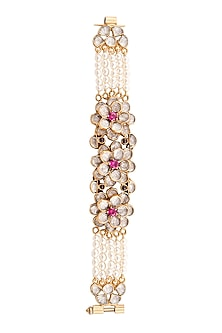 Gold Plated Floral Naaya Bracelet by Anita Dongre Silver Jewellery