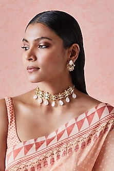Gold Plated Niba Necklace by Anita Dongre Silver Jewellery