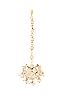 Gold Plated Ikleen Maang Tikka by Anita Dongre Silver Jewellery