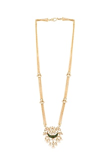 Gold Plated Crystal Pata Necklace by Anita Dongre Silver Jewellery