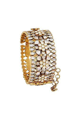 Gold Plated Crystal Bangles by Anita Dongre Silver Jewellery