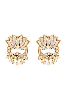 Gold Plated Kamal Earrings by Anita Dongre Silver Jewellery