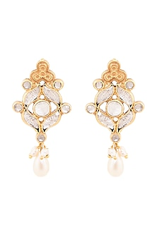 Gold Plated Madana Earrings by Anita Dongre Silver Jewellery