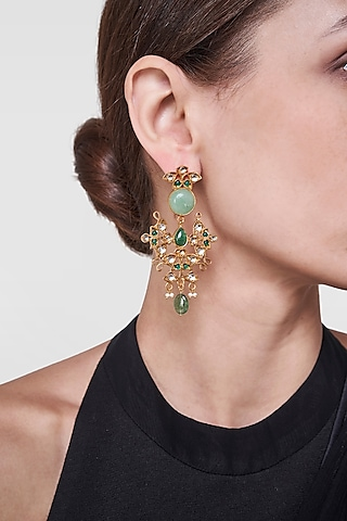 Gold Plated Tithli Earrings by Anita Dongre Silver Jewellery