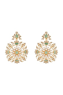 Gold Plated Satvi Dangler Earrings by Anita Dongre Silver Jewellery