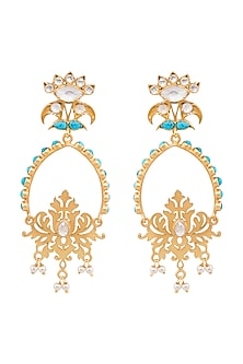 Gold Plated Satvika Dangler Earrings by Anita Dongre Silver Jewellery