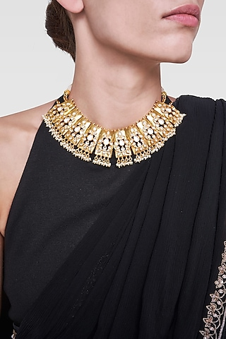 Gold Plated Handcrafted Sabi Necklace by Anita Dongre Silver Jewellery