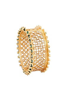 Gold Plated Green Enamel Heeposh Bangle by Anita Dongre Silver Jewellery